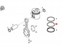 Кольцо поршневое компрессионное двигателя трактора Fendt — F824200310330