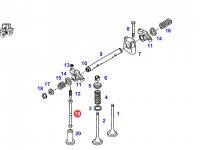 Штанга толкателя клапана двигателя трактора Fendt — F824200410260
