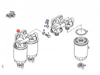 Двойной топливный фильтр двигателя трактора Fendt (в сборе) — F824200710580