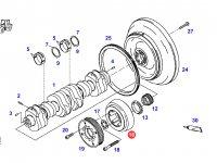 Демпфер шкива коленчатого вала двигателя трактора Fendt — F926200310160