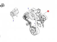 Ремень генератора двигателя трактора Fendt — F926202040020