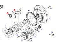 Вкладыши коренные двигателя трактора Fendt — F926202310100