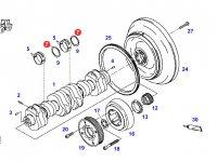 Упорная шайба коленвала двигателя трактора Fendt — F926202310110