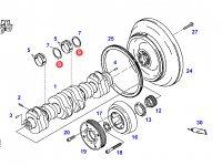 Упорная шайба коленвала двигателя трактора Fendt — F926202310140