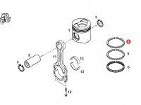 Кольцо поршневое верхнее двигателя трактора Fendt — F926202310170