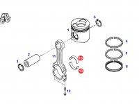 Вкладыши шатунные двигателя трактора Fendt (69,90 мм) — F926202310210