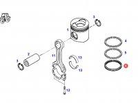 Кольцо поршневое маслосъемное двигателя трактора Fendt — F926202310330