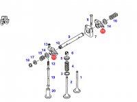 Коромысло(рокер) клапана двигателя трактора Fendt — F926202410070