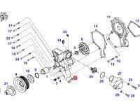 Охлаждающий(водяной) насос двигателя трактора Fendt — F926202610041