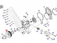 Шкив водяного насоса двигателя трактора Fendt — F926202610050