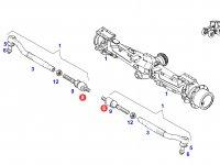Шарнирный наконечник рулевой тяги трактора Fendt — F926301100010
