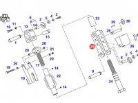 Вилка раскоса навески трактора Fendt — F926870030070