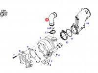 Патрубок турбокомпрессора двигателя трактора Fendt — F930200090030