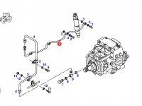 Трубка отвода топлива (топливоотвод) двигателя трактора Fendt — F930200710050