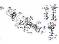 Левый поворотный кулак моста трактора Fendt — F930301020190