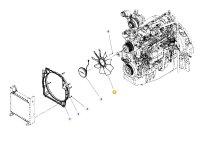 Крыльчатка (вентилятор) радиатора двигателя трактора Massey Ferguson — F931202040010
