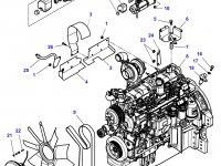 Крыльчатка (вентилятор) радиатора трактор Challenger — F931202040010