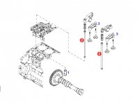 Штанга толкателя клапана двигателя трактора Fendt — F934201410110