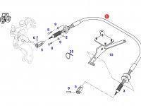 Трос управления КПП трактора Fendt — G716100090971