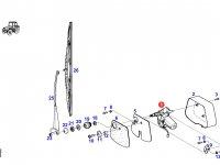 Моторчик щетки стеклоочистителя трактора Fendt — G716810170021