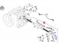 Центральный винт задней навески трактора Fendt (с крюком на конце) — G716870050021