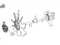 Вискомуфта вентилятора радиатора двигателя трактора Fendt — G916201040010