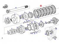 Комплект фрикционных дисков муфты ВОМ трактора Fendt — G926150220040