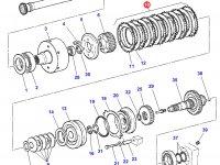 Комплект фрикционных дисков муфты ВОМ трактора Challenger — G926150220040