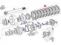 Комплект фрикционных дисков муфты ВОМ трактора Fendt — G926150220050