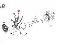Крыльчатка (вентилятор) радиатора двигателя трактора Fendt — H916201040050