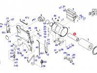 Вставка воздушного фильтра двигателя трактора Fendt — H916201091060
