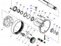 Солнечная вал-шестерня бортового редуктора заднего моста трактора Challenger — H931150150200