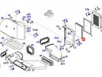 Фильтр воздушный кабины (салонный) трактора Fendt — H931812140511
