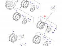 Передний колесный диск - W15x28(GNX, 8450-8750) — 33214600
