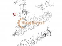 Вкладыши шатунные двигателя Sisu Diesel — 836110552
