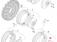 Вставка заднего колесного диска трактора (фланцевая гайка) — 33142700