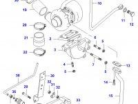 Патрубок турбокомпрессора двигателя Sisu Diesel — 836429289