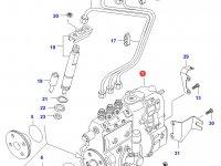 Топливный насос высокого давления (ТНВД) двигателя Sisu Diesel — 836654789