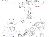 Комплект поршневых колец двигателя Sisu Diesel — 836539010