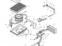 Вентилятор печки отопителя кондиционера кабины трактор Massey Ferguson — 30529700