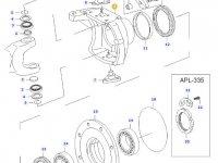 Правый поворотный кулак моста для тракторов Valtra — 31060700