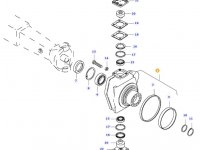Правый поворотный кулак моста для тракторов Valtra — 31791210