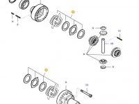 Комплект фрикционных дисков дифференциала моста трактора Massey Ferguson — 31799500