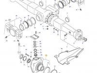 Правый поворотный кулак моста для тракторов Valtra — 31800910