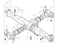 Передний суппорт переднего моста трактора Massey Ferguson — 3712093M11