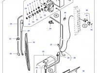 Моторчик щетки стеклоочистителя трактора Massey Ferguson (в сборе) — 33507900