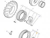 Вставка переднего колесного диска трактора Massey Ferguson — 34591300