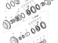 Шестерня вторичного вала КПП трактора Massey Ferguson — 34648400