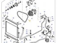 Ремень компрессора кондиционера двигателя трактора Massey Ferguson — 35615000