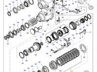 Комплект фрикционных дисков узла 4WD КПП трактора Massey Ferguson — 36134200